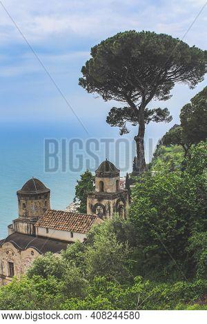 Fantastic View From Villa Rufolo In Ravello, Italy.