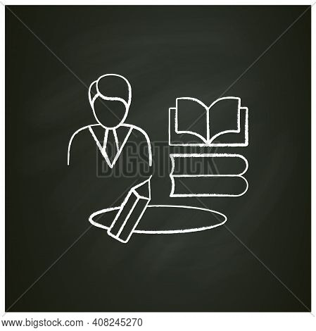 Learning Zone Chalk Icon. Route To Success. Self Improvement And Self Realization. Business And Care