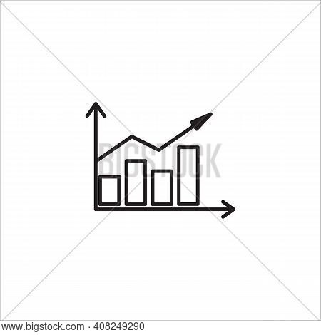Bar Chart Icon Isolated On White Background From Seo And Marketing Collection. Bar Chart Icon Trendy