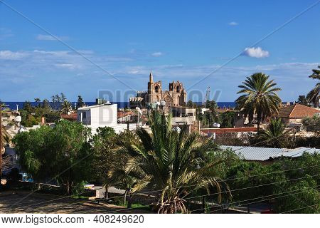 Famagusta, Northern Cyprus - 08 Jan 2016: The Old Town Of Famagusta, Northern Cyprus