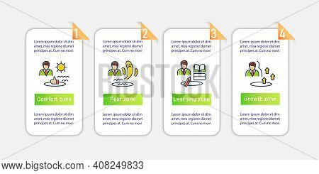 Personal Growth Vector Infographics. Self Improvement And Self Realization. Personal Development Tem