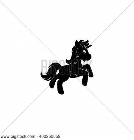 Cute Of Fine Unicorn Silhouettes - Running, Rearing And Jumping Horses
