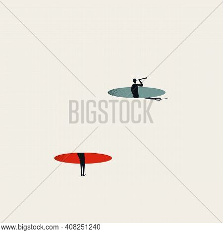 Business Vision And New Career Opportunity Vector Concept. Symbol Of Planning, Future, Strategy And