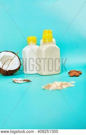 Various Vegan Plant Based Milk And Ingredients, Non-dairy Milk