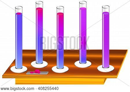 An Illustration Of A Physical Process Is Diffusion In Liquids, As A Result Of The Movement Of Molecu