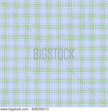 Blue Green Lilac Vintage Checkered Background. Space For Graphic Design. Checkered Texture. Classic