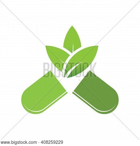 Herbal Supplement - Natural Medicine Logo Template