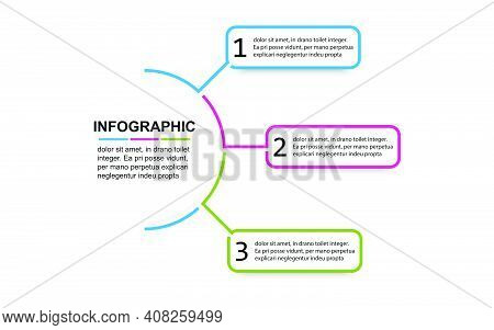 Timeline 3 Point Banner Elements And Numbers. Semicircle Presentation Business Infographic Template