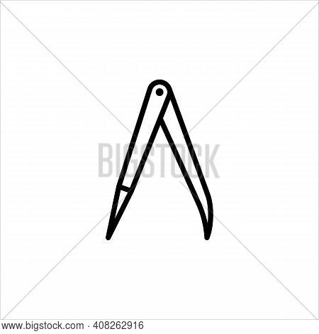 Calipers, Accuracy, Markup. Vector Sign In A Simple Style Isolated On A White Background