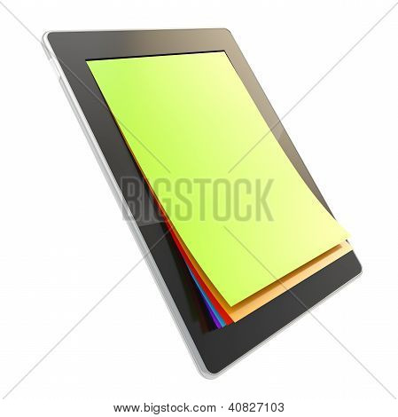 Pad Electronic Device With Paper Pages As Screen