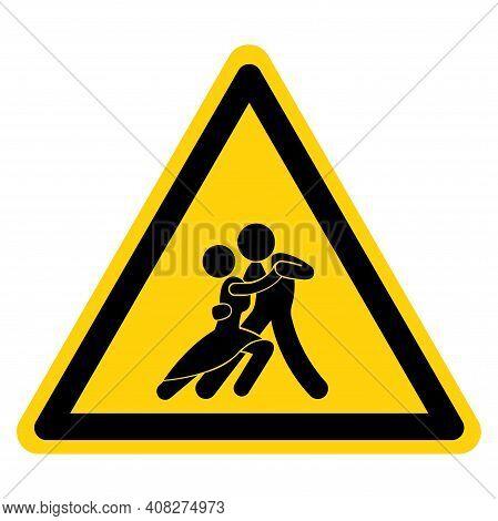 Tango Dance Area Symbol Sign, Vector Illustration, Isolate On White Background Label. Eps10