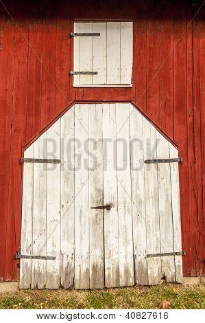 Red Barn White Doors