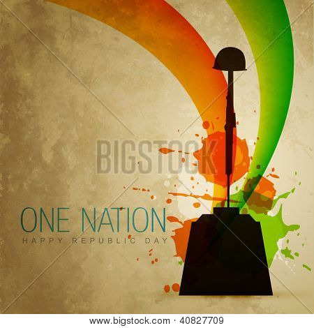 vector indian patriotic flag style art
