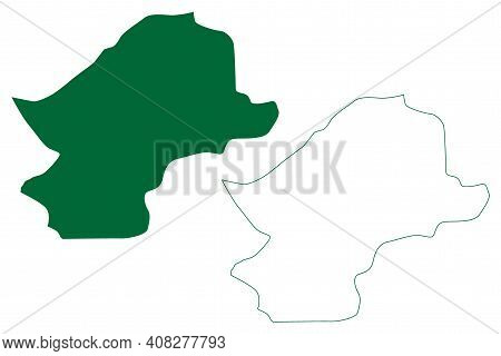 Lower Subansiri District (arunachal Pradesh State, Republic Of India) Map Vector Illustration, Scrib