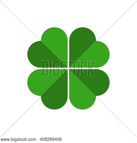 Clover With Four Petals Graphic Icon. Clover Sign Isolated On White Background. Vector Illustration
