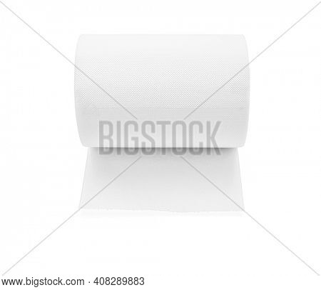 Paper towel roll isolated on white, including clipping path