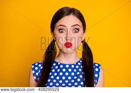 Close-up Portrait Of Her She Nice-looking Attractive Pretty Lovely Glamorous Funky Humorous Cheery G