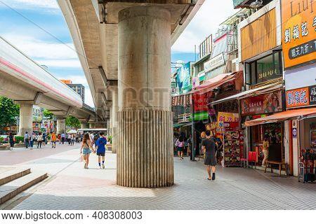 TAIPEI, TAIWAN - July 2, 2019: Commercial Store in Taipei, Taiwan