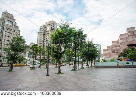 TAIPEI, TAIWAN - July 2, 2019: Typical architecture in Taipei, Taiwan
