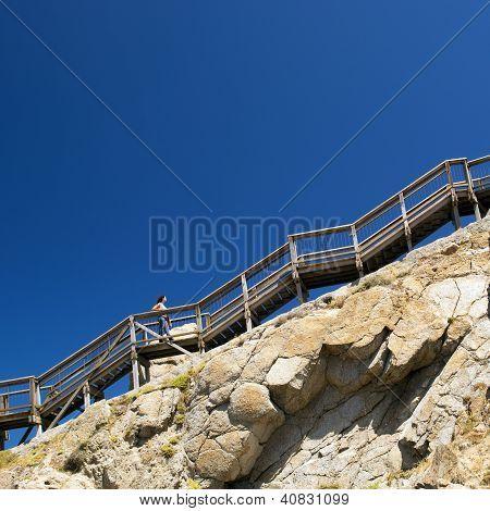 Woman Climbing Stairs