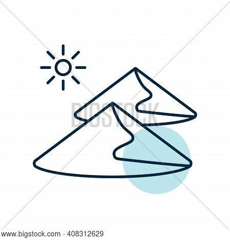Sand Dunes Vector Icon. Nature Sign. Graph Symbol For Travel And Tourism Web Site And Apps Design, L
