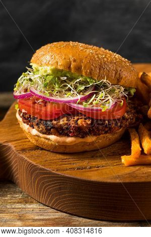 Healthy Organic Vegan Quinoa Burger