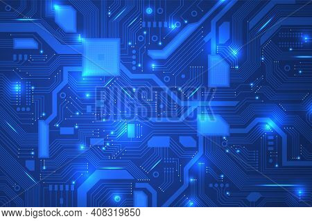 Circuit Board. Industrial Electronics, Digital Hardware For Computer. Motherboard Background, Recent