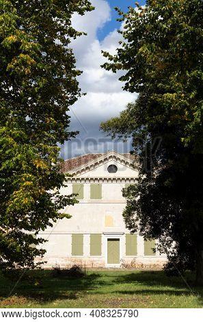 Villa Zeno near Cessalto, UNESCO site, Veneto region, Northern Italy. The most easterly villa designed by Italian Renaissance architect Andrea Palladio.