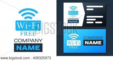 Logotype Free Wi-fi Icon Isolated On White Background. Wi-fi Symbol. Wireless Network Icon. Wi-fi Zo