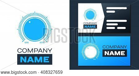 Logotype Dial Knob Level Technology Settings Icon Isolated On White Background. Volume Button, Sound
