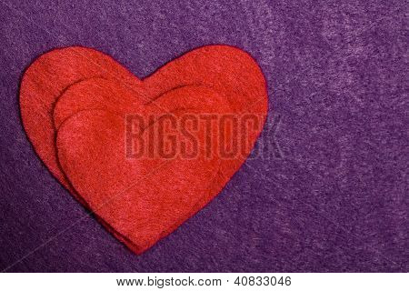 Felted Heart Silhouette Card