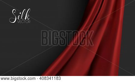 Luxury Background Template Vector Illustration. Red Silk Texture. Award Nomination Design Element. R