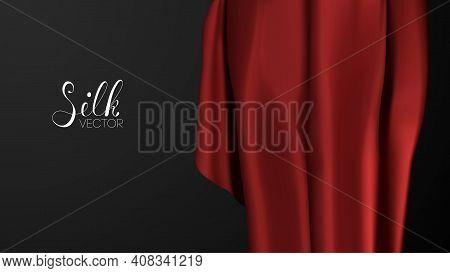 Red Fashion Background. Luxury Background Template Vector Illustration. Award Nomination Design Elem