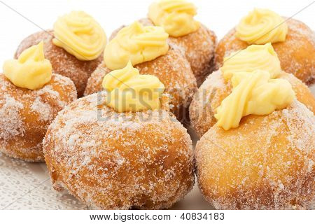 krapfen with the cream