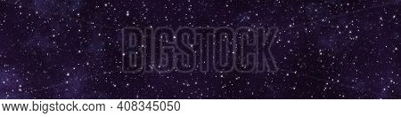 An illustration of a wide starry night sky background banner