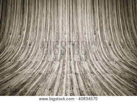 Room Covered With Wooden Planks For Background