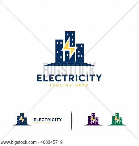 Electricity Logo Designs Concept Vector, Building Electricity Logo Template