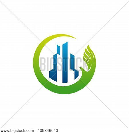 Building Care Logo Designs Vector, Architecture Logo, Real Estate Care Logo