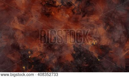 An illustration of a fire inferno in hell background