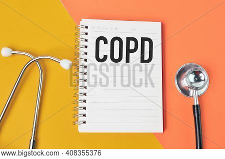 Notebook Written With Copd Stands For Chronic Obstructive Pulmonary Disease.