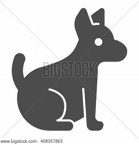 Puppy Solid Icon, Domestic Animals Concept, Dog Sign On White Background, Pet Dog Icon In Glyph Styl