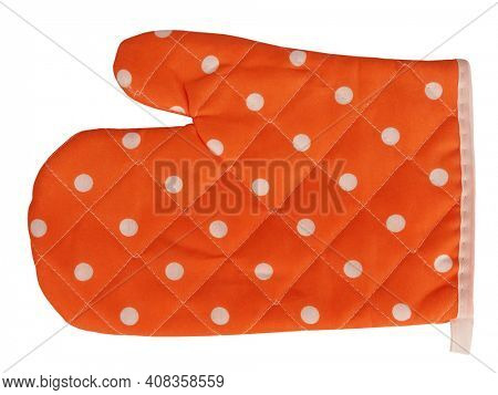 Mitt oven glove orange polka dot spotted vintage classic cooking concept