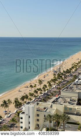 Fort Lauderdale Beach, Florida Seen From Above