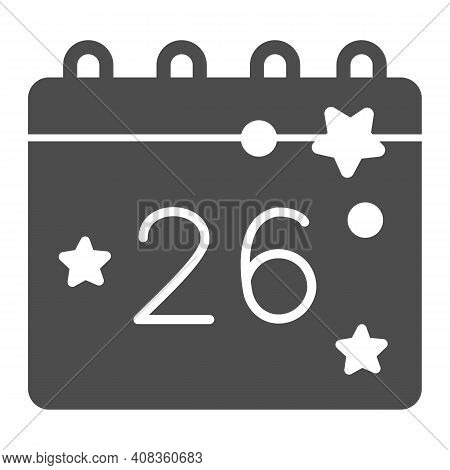 Calendar With Thanksgiving Day Solid Icon, Thanksgiving Day Concept, Twenty Eighth Of November Date