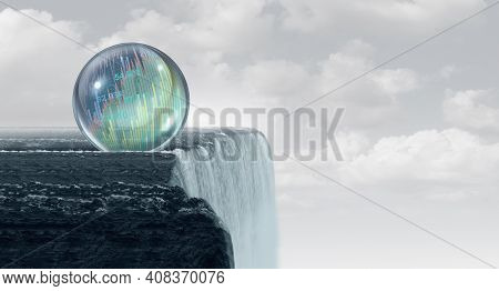 Stock Market Bubble Correction Concept And Overvalued Economy As A Financial Crisis As  Inflated Equ