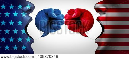 American Crisis And United States Debate Or Us Social Issues Argument And Political War As A Culture