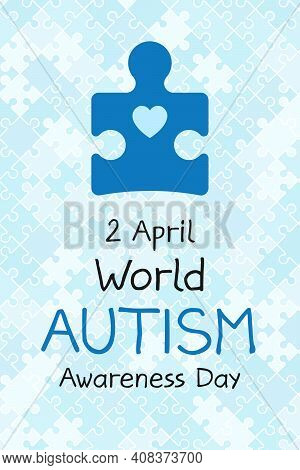 2 April World Autism Awareness Day Banner. Symbol Of Autism. Design Template For Background, Card, P
