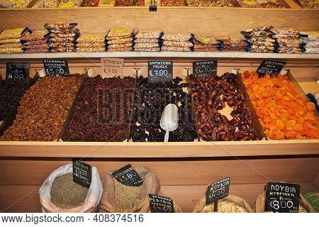 Limassol, Cyprus - 04 Jan 2016: The Local Market In Limassol, Cyprus