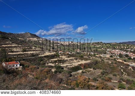 Lefkara, Cyprus - 06 Jan 20116: The Road In Lefkara Village In Mountains Of Cyprus