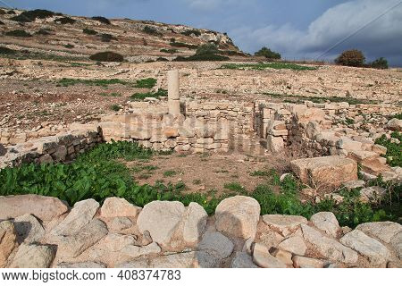 Limassol, Cyprus - 07 Jan 20116: Ancient Ruins Amathus In Limassol Of Cyprus